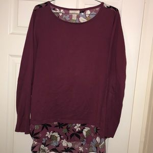 Magenta Floral Sweater